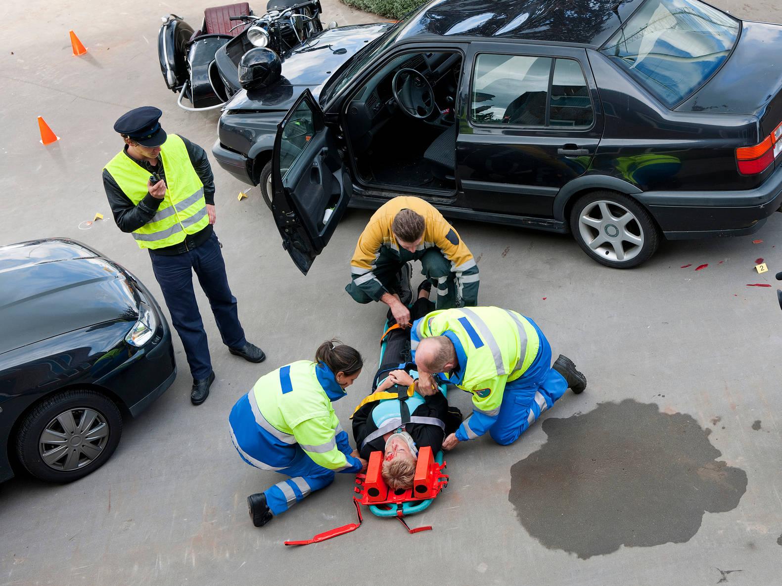 los angeles car accident scene